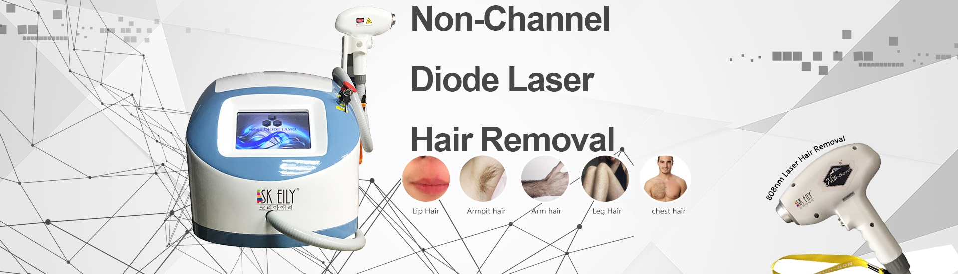 Portable Non Channel 808nm Laser Hair Removal Equipment